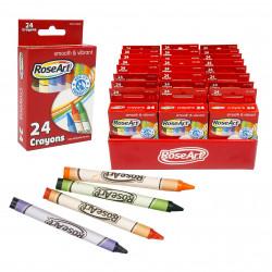 Rose Art Crayons Pack, 24 Crayons