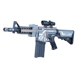 بندقية نيرف شبه أوتوماتيكية تعمل بالبطارية و 20 قطعة سهام رصاصة ناعمة من ستورم بلايز