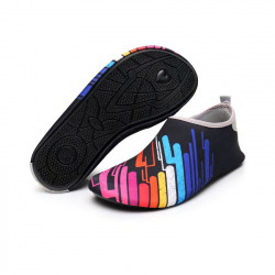 أحذية مائية للبالغين، تصميم الخطوط الملونة، قياس 36-37