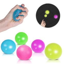 Globbles Stress Relief Toys Sticky Squash Ball, Assorted Colors